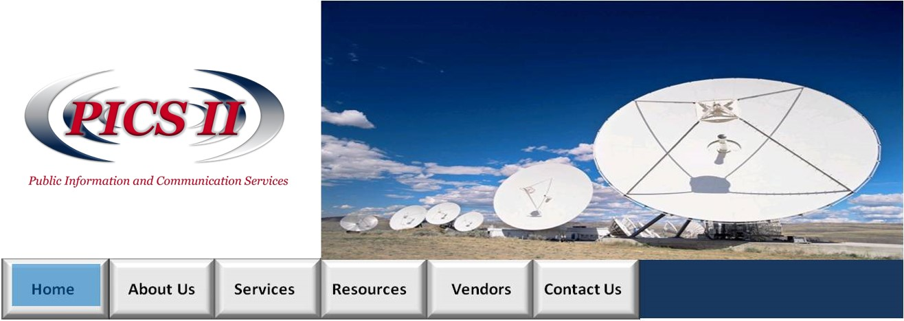 Top Website Image with PICS logo and a picture of the Satelite