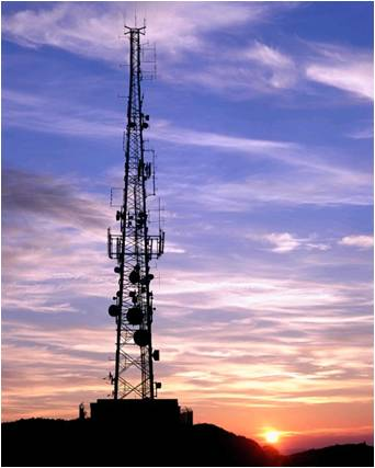 Image of a communication tower